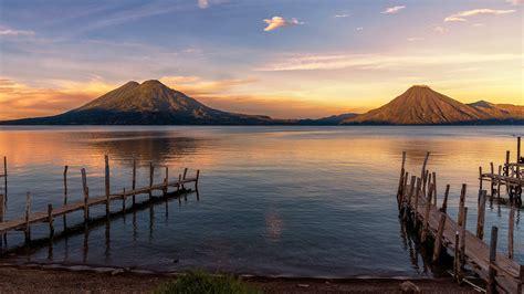 lake atitlan  sunrise panajachel guatemala windows