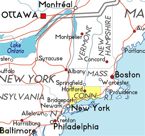 us map connecticut map of connecticut in the usa