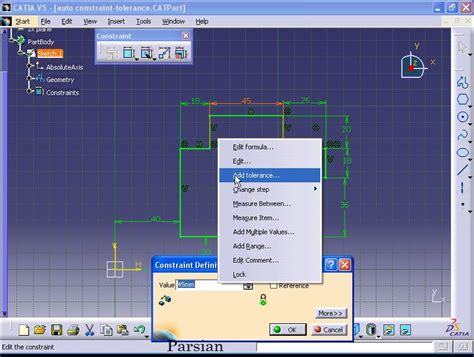user pattern definition catia catia 1 tolerance dimension measurement a pojnt and