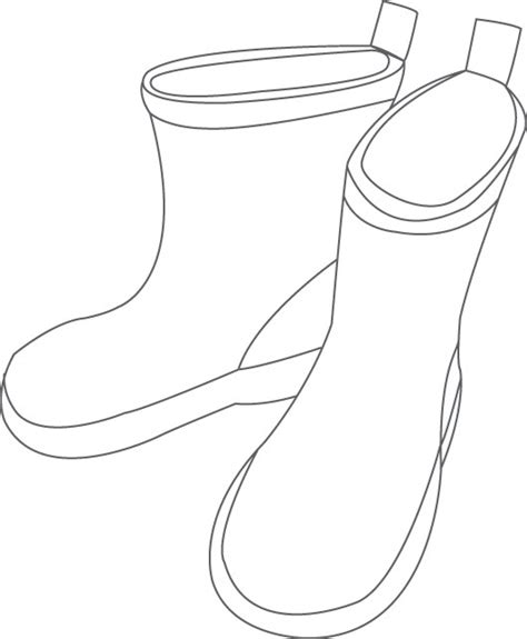 sketch womens rain boots coloring pages