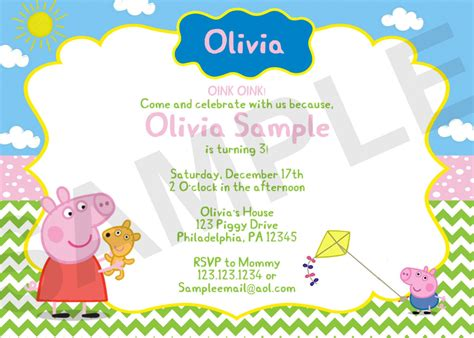 peppa pig invitation card template new of peppa pig birthday invitations template new hd
