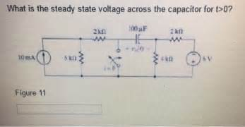 what is the steady state voltage across the capaci chegg