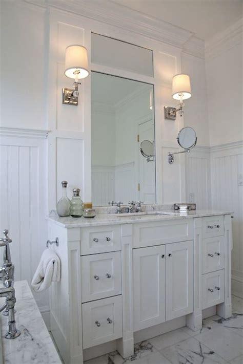Gray Beadboard Vanity Design Ideas