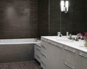 Modern Bathroom Brown Tiles Brown Subway Tiles Contemporary Bathroom Beth Webb