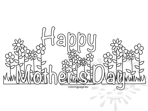 mother s day coloring page