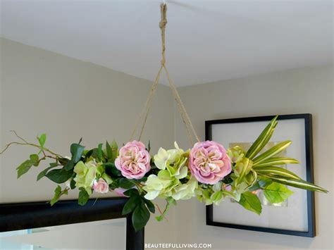 Floral Chandelier Diy Hanging Floral Chandelier Diy Beauteeful Living