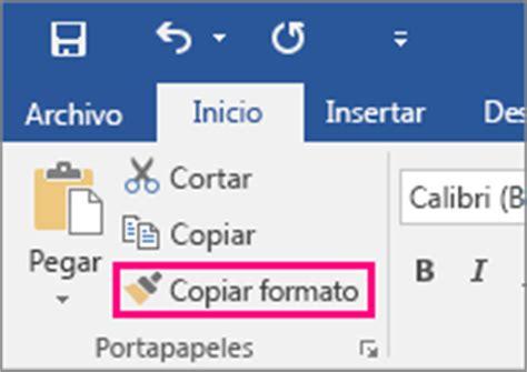 copiar varias imagenes word copiar el formato utilizando copiar formato soporte