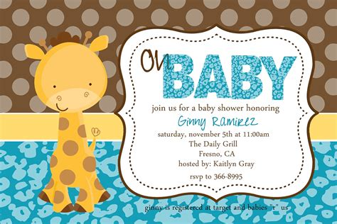 baby giraffe baby shower baby giraffe baby shower invitation