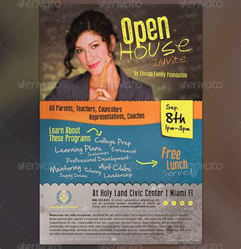 Another Opening On A House Other Than A Door by Open House Flyer 18 In Psd Pdf Word