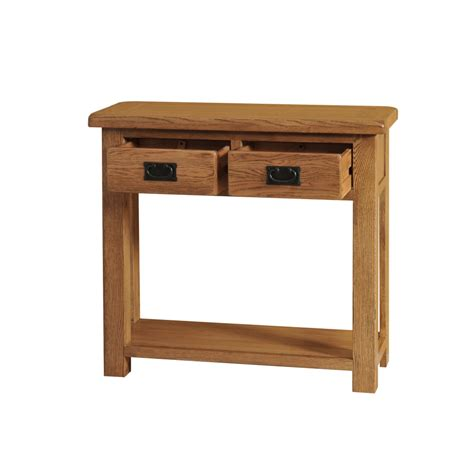 Hallway Table With Drawers Logan Solid Oak Furniture Hallway Console Table With Drawers Ebay