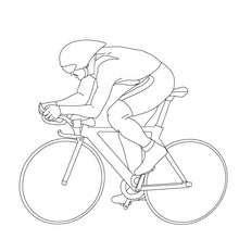 Desenhos Para Colorir De Desenho Pista Ciclismo  sketch template