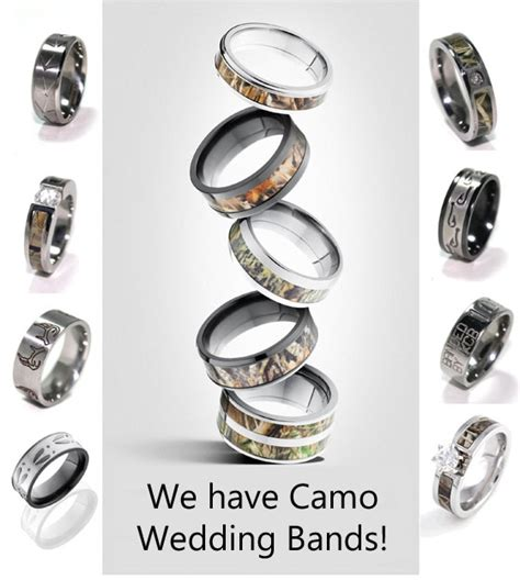 camo tattoo wedding bands camo wedding rings pictures to pin on pinterest tattooskid