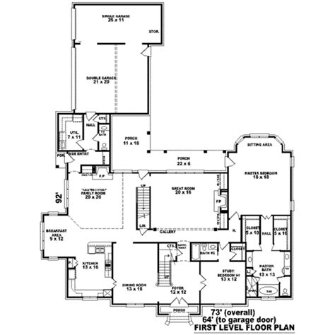 6000 sq ft house plans colonial style house plan 4 beds 4 00 baths 5101 sq ft