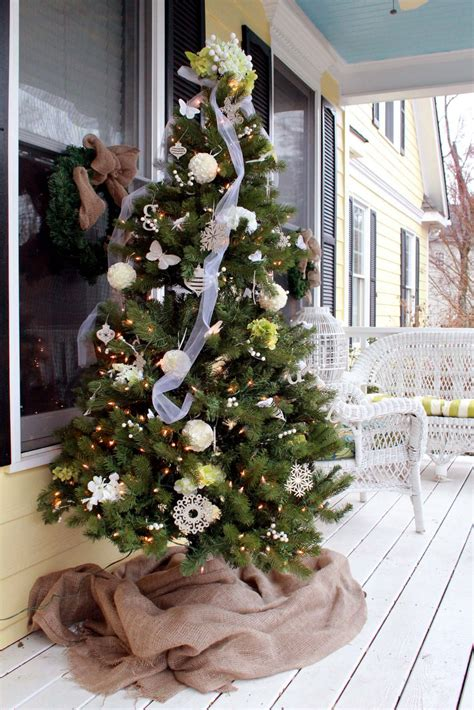 porch christmas trees 10 christmas decorating ideas for your front porch