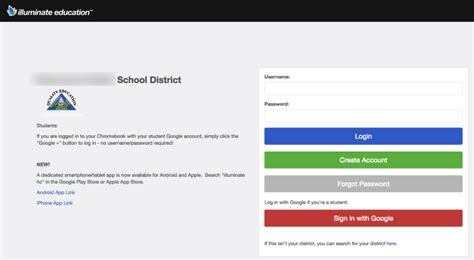 portal login display configuration illuminate education