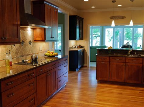 painted and stained kitchen cabinets appealing stained kitchen cabinets design idea
