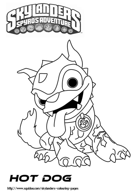 skylander birthday coloring page skylanders printable coloring pages hot dog pinterest