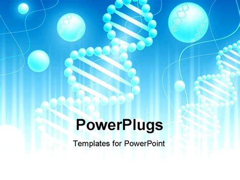 free powerpoint templates for science presentation science background with dna theme and copyspace for your