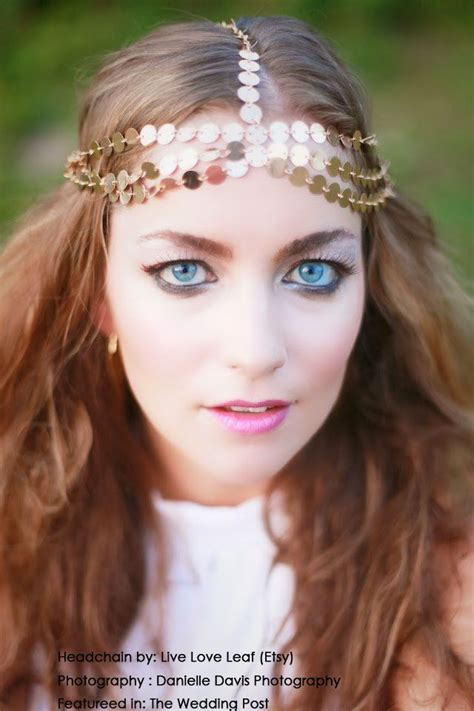 hairstyles with haedband accessories 70s hairstyle bohemian style wedding hair accessory