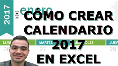 Calendario Colombia 2017 Excel C 243 Mo Crear Calendario 2017 En Excel