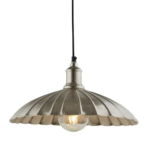 Umbrella Ceiling Light Searchlight Lighting Umbrella Single Light Ceiling Pendant In Satin Nickel Finish Lighting