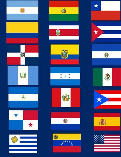 hispanic colors diversitystore 174 hispanic flag set 21 flags