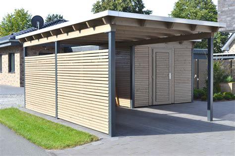Carport Holz Mit Abstellraum Denvirdev Info