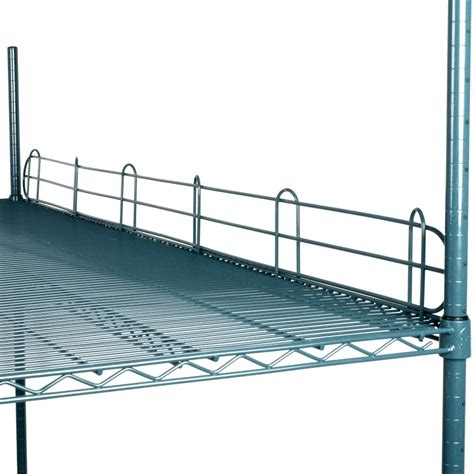 regency 72 quot green epoxy wire shelf ledge for wire shelving