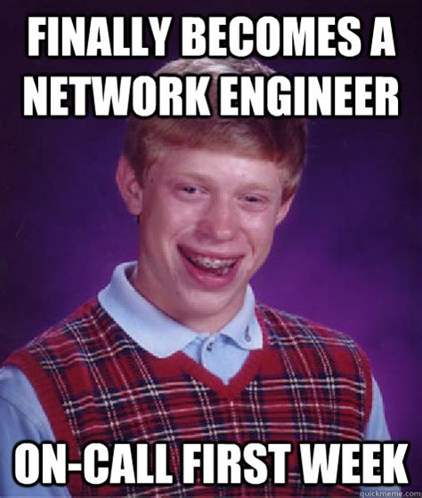 finally becomes a network engineer on call first week