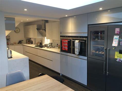 beautiful modern and high gloss kitchens abbeywood services high gloss handleless kitchen in ware blax kitchens ltd