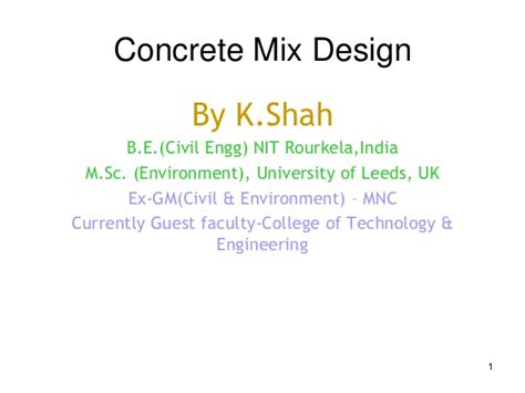 concrete mix design for marine environment concrete design mix ss