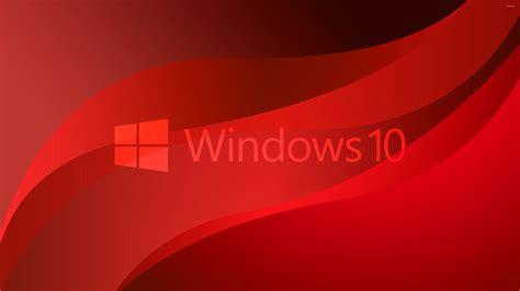 wallpaper windows 10 red windows 10 transparent logo on red waves wallpaper
