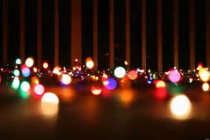 christmas lights beautiful scenery photography