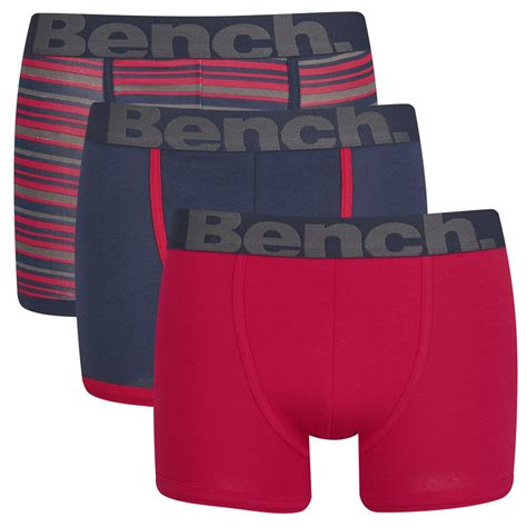 bench underwear men bench men s 3 pack striped boxers red blue mens