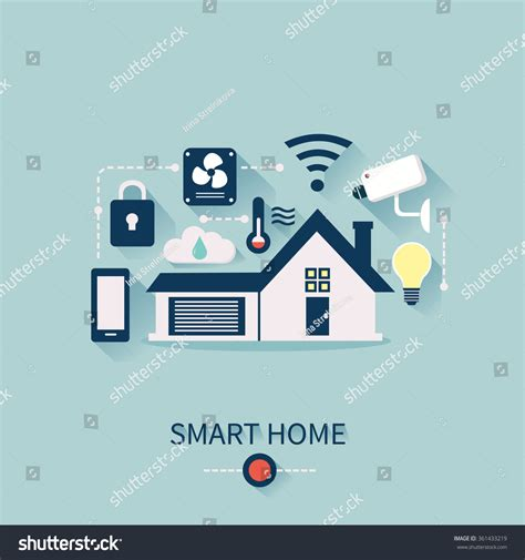 smart home automation technology infographics stock vector vector concept of smart house technology system with