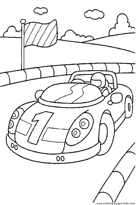 coloring book tracks car outline w track boy s room ideas