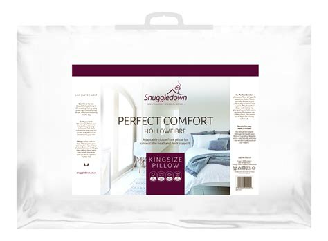 perfect comfort snuggledown perfect comfort king pillow shoplinens ie