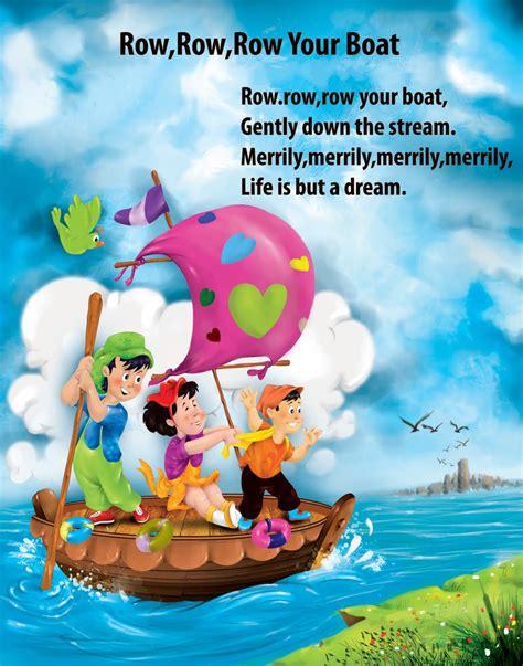 what rhymes with boat artworks children english nursery rhymes digital