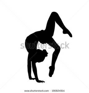 Gymnastics Wall Murals gymnastics silhouette stock images royalty free images
