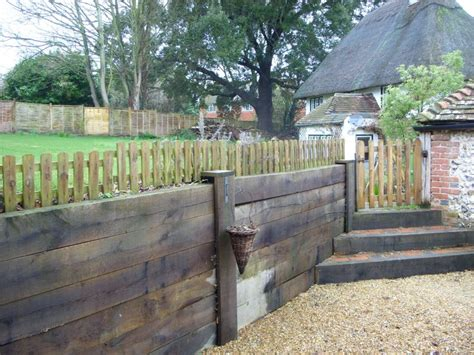 How To Build Retaining Wall With Railway Sleepers by Steps Retaining Wall From New Oak Railway Sleepers