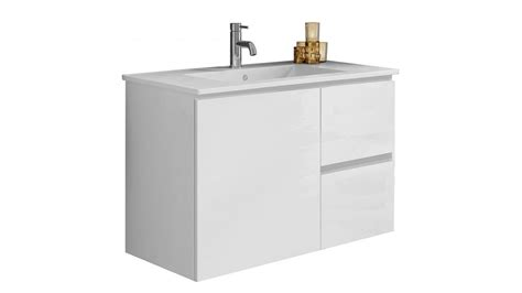 Harvey Norman Bathroom Vanities Timberline Ostia 750mm Wall Hung Vanity Bathroom Vanity