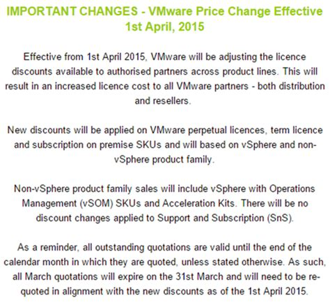 Price Increase Letter Sle Uk vmware tells partners punters to pay higher prices