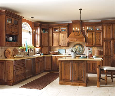 rustic alder wood kitchen cabinets rustic alder kitchen cabinets schrock cabinetry
