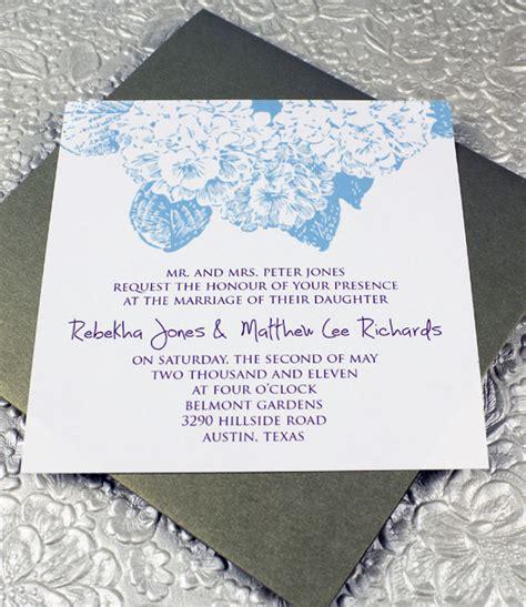 Hydrangea Square Invitation Template Download Print Square Wedding Invitation Template