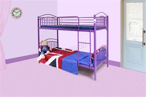 Metal Bunk Bed Mbb 04 Foxhunter 3ft Single Metal Frame Bunk Bed Children