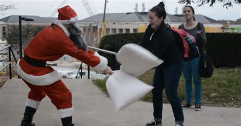 Pillow Fight With Strangers by You Better Out You Better Not Cry Santa S