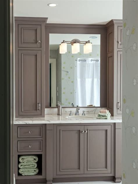 Upper Kitchen Cabinet Ideas by Taupe Bathroom Ideas Pictures Remodel And Decor