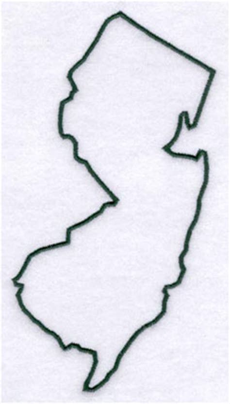 New Jersey State Map Outline by New Jersey State Outline