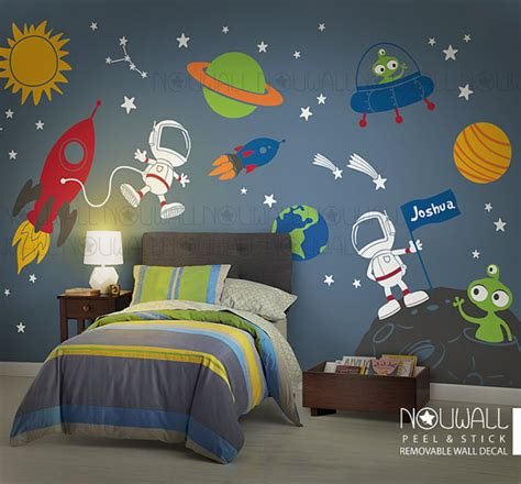 outer space wall stickers space wall decal planets astronaut boy children