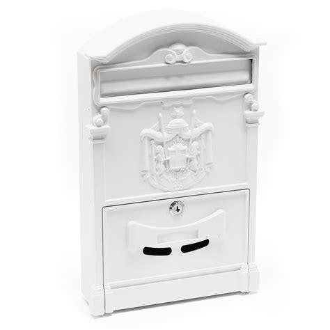 white wall mounted mailbox letter mailbox design mailbox v17 post box anthracite powder coated wall